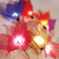 Bloomination Natural Multi-Color Leaf Lights - Unique Vintage - Cocktail, Evening & Pinup Dresses