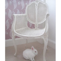 Provencal Rattan White Chair|Chairs  Armchairs|Seating|French Bedroom Company