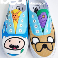 Custom Vans- Adventure Time