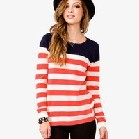 Colorblocked Striped Sweater | FOREVER 21 - 2023132472