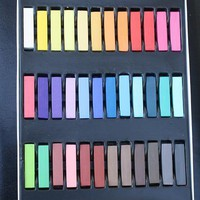 Single Hair Chalk Kit, 36 Chalk Pieces Set, Rainbow Colors from Hair Chalks