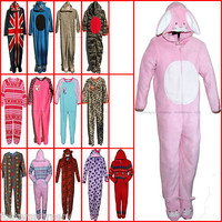 Boys Girls Kids Childrens Novelty Sleepsuit All In One Babygrow Fleece Pyjamas