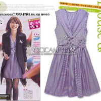 Elegant Sleeveless Dress 3999 Purple Cheap Dresses Wholesale [3999+purple] - US&amp;#36;3.00 : Wholesaleclothing4u.com