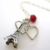 Eiffel Tower Necklace  Eiffel Tower Jewelry by SpotLightJewelry