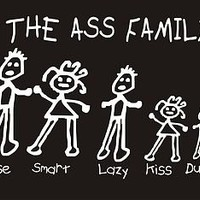 THE ASS FAMILY Adult Humor Cool Rude Mean Offensive Retro Funny T-Shirt