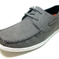 Mens Gray Delli Aldo Casual Driving Boat Shoes Styled in Italy