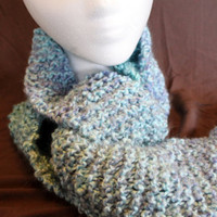 Long Ocean Waves Scarf Ready to Ship by SunshineRoseDesign