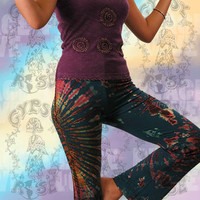 Gypsy Rose::Cool Threads::PANTS - TYE DYE LYCRA STRETCH PANTS