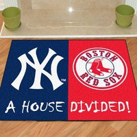 Fanmats New York Yankees - Boston Red Sox House Divided Mat 34