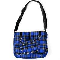 Amazon.com: Living Dead Souls Womens Plaid Bag with Coin Purse - Blue: Clothing