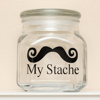 My Stache  MINI  Mustache Money Jar  Curly by TheBeautifulHome
