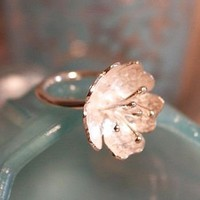 handmade flower ring by posh totty designs boutique | notonthehighstreet.com