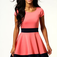 Claire Colour Block Skater Dress