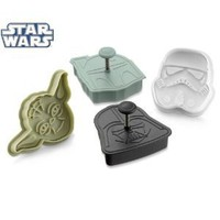 Amazon.com: Star Wars Press-and-Stamp Cookie Cutters, Set of 4 Heroes and Villains: Yoda, Darth Vader, Boba Fett and Stormtrooper: Everything Else