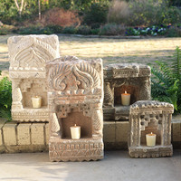 Very Old Stone Wall Lamp | Candleholders