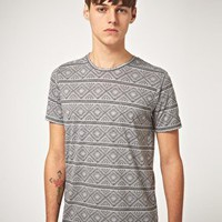 ASOS | ASOS T-Shirt With All Over Aztec Print at ASOS