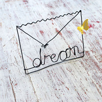 Wire word Dream by WireDreams on Etsy