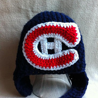 Go Habs Go Montreal Canadians hat with by HookinItbyBellaBeanz
