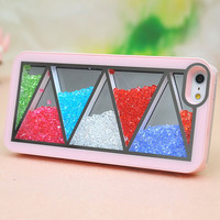 Nice Pink Triangle Hard Cover Case For Iphone 4/4s/5