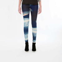 SUNSET pattern Woman ECO friendly BAMBOO leggings by DreamNation