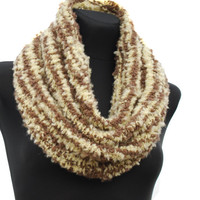 Hand knitted warm cozy scarf neckwarmer fall by ISfelteddesign