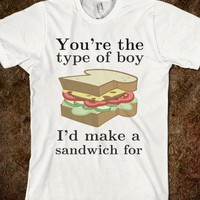 Sandwich making boy