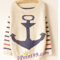 Vintage Anchor Stripes Style Sweater #7 from 1Point99.com