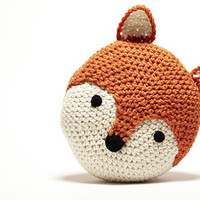 Crochet Fox Pillow by peanutbutterdynamite on Etsy