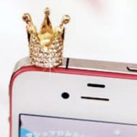 Anti-dust Crown Style Earphone Jack for iPhone and iPad  from 1Point99.com