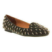Jeffrey Campbell SKULLTINI PEWTER SKULLS Shoes - Womens Flats Shoes - Office Shoes