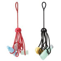 Shower Squid Octopus Shower Caddy - Black