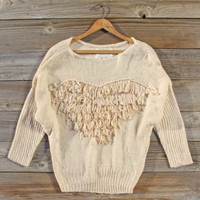 Light Hearted Cozy Sweater, Sweet Cozy Lace Sweaters
