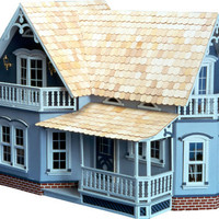 The Classic Country Farmhouse Magnolia Dollhouse Kit - Wood Doll House Farmhouse