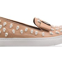 Jeffrey Campbell Hawk B Skull in Nude Patent White at Solestruck.com