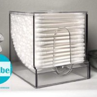 Amazon.com: QubeTM Cotton Swab Dispenser by WalterDrake: Home & Kitchen