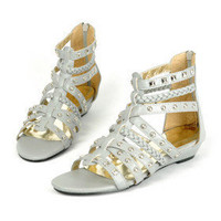 Leatherette Upper Flat Heel Gladiator Sandals Honeymoon Shoes.More Colors Available - &amp;#36;29.88