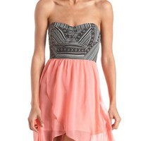 Tribal Hi-Low 2-Fer Dress: Charlotte Russe