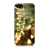 iPhone 5 Case, Paris Photograph, Hearts over Street, Romantic, Valentine Day - Looking for Love