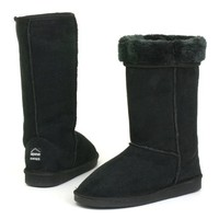 "Womens Boots Mid Calf 12"" Australian Classic Tall Faux Sheepskin Fur Shearling Fashion Comfort..."