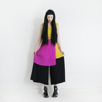 MUSTARD & PURPLE DRESS