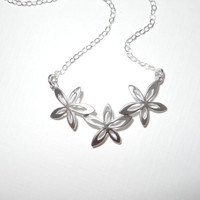 Petite Plumeria Flower Necklace by morganprather on Etsy