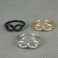 Fashion Punk Simple Style Metal infinite infinity sign Ring