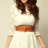 New sweet lady floral lace skirt High quality