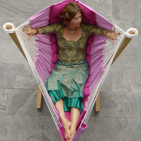 bohorocker siesta chair: suspended reading or computer chair to relax in the bedroom, lounge or conservatory.