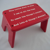 This Little Stool, Wooden Step Stool, Children's Tip-Resistant Stepstools by LaffyDaffy on Etsy