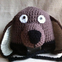 Lush The Wonder Dog  Basset hound hat in by HookinItbyBellaBeanz