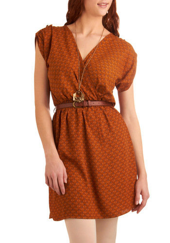 My Kind of Folk Dress in Rust | Mod Retro Vintage Dresses | ModCloth.com