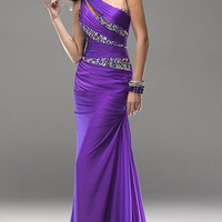 Brand new Sexy One Shoulder Evening Dresses Beaded Long Party Formal Prom Gown