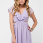Ruffled Cutout Dress in Lilac :: tobi