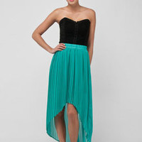 People Pleater Skirt in Seafoam :: tobi